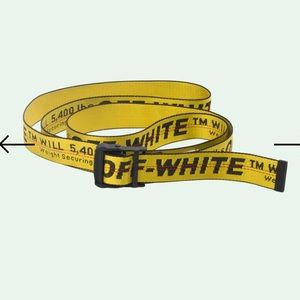 Genuine Off-White Industrial Belt with Removed Tag